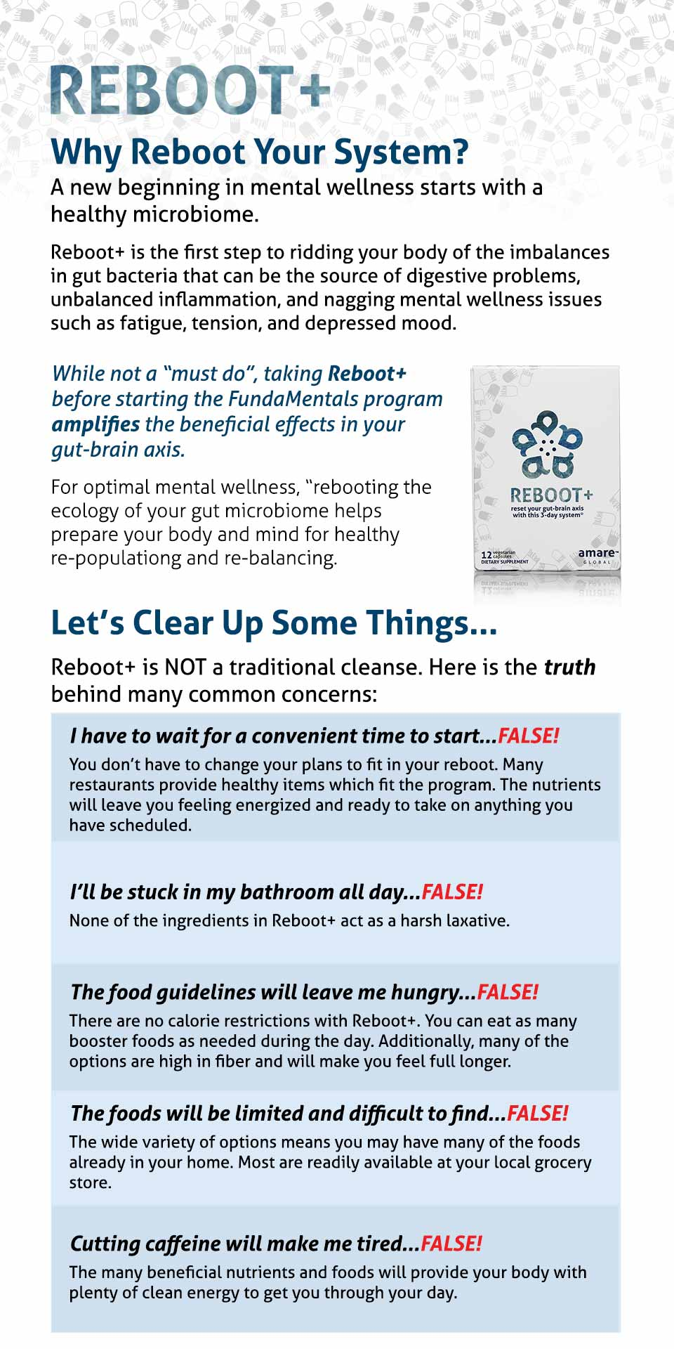 Reboot+ by Amare Global® | Reset Your Gut-Brain Axis with